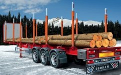 Italeri 3868 Timber Trailer (1:24)