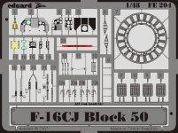 Eduard FE204 F-16CJ Block 50 1:48 Hasegawa
