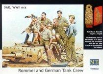 Master Box 3561 Rommel and German Tank Crew (DAK, 1941-1943) 1/35