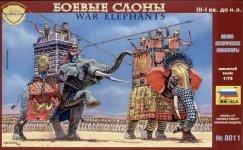 Zvezda 8011 War elephants III-I B.C. (1:72)