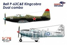 Dora Wings 7201D Bell P-63C&E Kincobra Dual combo 2in1 1/72