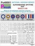 P-Mask PO48001 MASKI DO MALOWANIA OZNACZEŃ SUPERMARINE SPITFIRE RAF (1:48)