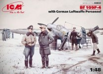 ICM 48804 Bf 109F-4 with German Luftwaffe Personnel (1:48)