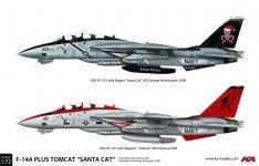 KA Models KP-72002A F-14A PLUS Tomcat SantaCat (ex Fujimi) 1/72