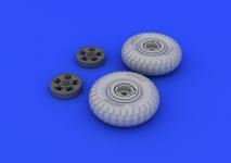 Eduard 648098 Spitfire wheels - 5 spoke 1/48 (Eduard)