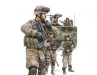 Trumpeter 00424 Modern U.S. Army Armor Crewman / Infantry (1:35)