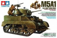 Tamiya 35313 U.S. Light Tank M5A1 Pursuit Operation Set (w/4 Figures) (1:35)