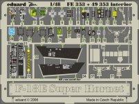 Eduard FE353 F-18E interior 1/48 Hasegawa