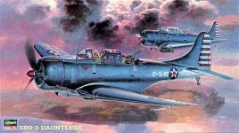 Hasegawa JT19 SBD-3 Dauntless (1:48)