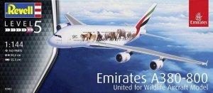 Revell 03882 Airbus A380 Emirates Wild-Life 1/144