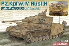 Dragon 6933 Pz.Kpfw.IV Ausf.H Late-Production w/Zimmerit 1/35
