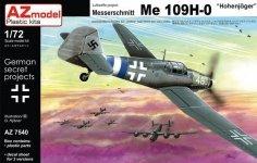 AZ-Model AZ7540 Messerschmitt Bf 109H-0 Hohenjäger 1/72