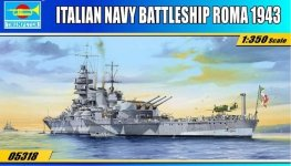 Trumpeter 05318 Italian Navy Battleship RN Roma (1:350)