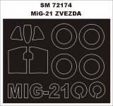 Montex SM72174 MiG-21 ZVEZDA