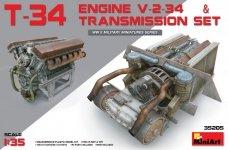 Miniart 35205 T-34 Engine V-2-34 & TRANSMISSION SET (1:35)