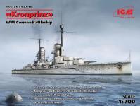 ICM S016 (Full Hull OR Waterline), WWI German Battleship Kronprinz 1/700