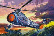 Trumpeter 02882 American H-34 Helicopter – Navy Rescue 1/48