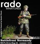 RADO Miniatures RDM35002 Battlefront Normandy SS Sturmmann (SS.Pz.Gren.Reg.25 summer 1944) two heads included 1/35