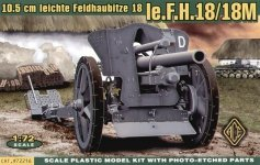 ACE 72216 German le FH18 10,5 cm Field Howitzer (1:72)