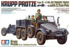 Tamiya 35259 Krupp Protze 1 Ton (6x4) Kfz.69 Towing Truck w/3.7cm Pak (1:35)