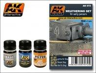 AK Interactive AK 072 Early Panzers Weathering Set