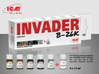 ICM 3007 Acrylic paint set for INVADER B-26K (and other Vietnam aircraft) 6x12ml