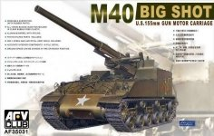 AFV Club 35031 M-40 155mm Gun Motor Carriage (1:35)