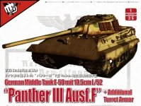 """Modelcollect UA35015 German Middle Tank E-50 mit 10.5cm L/52 """"Panther III Ausf.F"""" 1/35"""