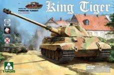 Takom 2074 King Tiger Sd.Kfz.182 PORSCHE TURRET / Full Interior 1/35