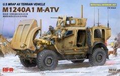 Rye Field Model 5032 U.S MRAP All Terrain Vehicle M1240A1 M-ATV With full interior 1/35