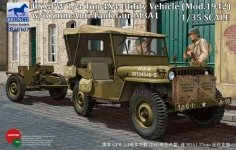 Bronco CB35107 US GPW 4x4 Light Utility Vehicle mod 1942 w/37mm AT Gun M3A1 (1:35)
