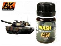 AK Interactive AK 075 Wash For Nato Tanks 35ml
