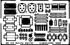 Eduard 35113 Sd. Kfz.251/1 Ausf. D 1/35 Tamiya