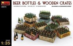 MiniArt 35574 BEER BOTTLES & WOODEN CRATES (1:35)