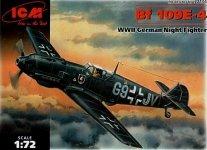 ICM 72134 Bf 109E-4 WWII German Night Fighter (1:72)