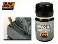 AK Interactive AK 070 Wash For Panzer Grey 35ml
