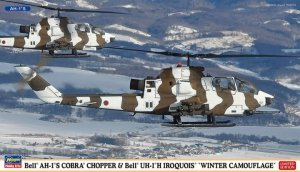 Hasegawa 02239 Bell AH-1S Cobra Chopper and Bell UH-1H Iroquois Winter Camo (2 kits) Limited Edition (1:72)