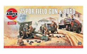 Airfix 01305V 25PDR Field Gun & Quad Vintage Classics 1/76