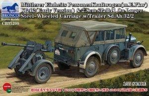 Bronco CB35209 Kfz12(Early Version) & 2.8cm sPzB41 w/Trailer Sd.Ah.32/2 (1:35)