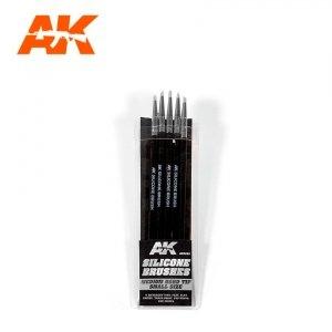 AK Interactive AK 9085 SILICONE BRUSHES MEDIUM TIP SMALL 5 pcs