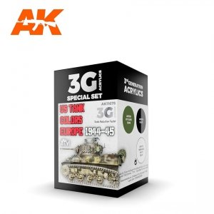 AK Interactive AK 11675 US TANK COLORS EUROPE 1944-1945 3x17 ml