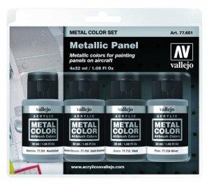 Vallejo 77601 Metallic Panel 4 x 32ml