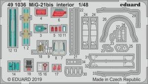 Eduard 491036 MiG-21bis interior 1/48 EDUARD