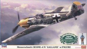Hasegawa 07500 Messerschmitt Bf109E-4/N 'Galland' w/Figure 1/48