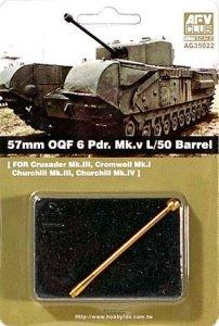 AFV Club AG35022 57mm OQF 6 Pdr.Mk V L/50 Barrel 1:35
