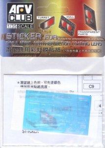 AFV Club AC35014 Sticker for simulating Anti reflection coating lens For Merkava Mk.IV (1:35)