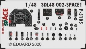 Eduard 3DL48002 P-51D-5 SPACE 1/48