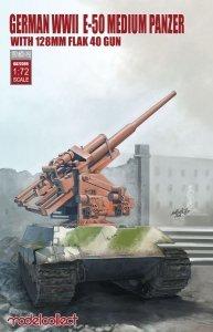Modelcollect UA72099 German WWII E-50 medium panzer with 128mm flak 40 gun (1:72)