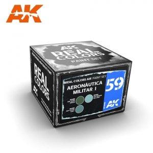 AK Interactive RCS059 AERONÁUTICA MILITAR I (SPITFIRE, HURRICANE, BEAUFIGHTER…1940/1950S) 3x10ml