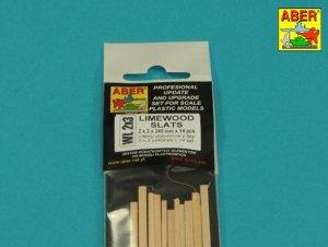Aber WL2X3 Listwy drewniane z lipy 2x3x245mm x 14szt